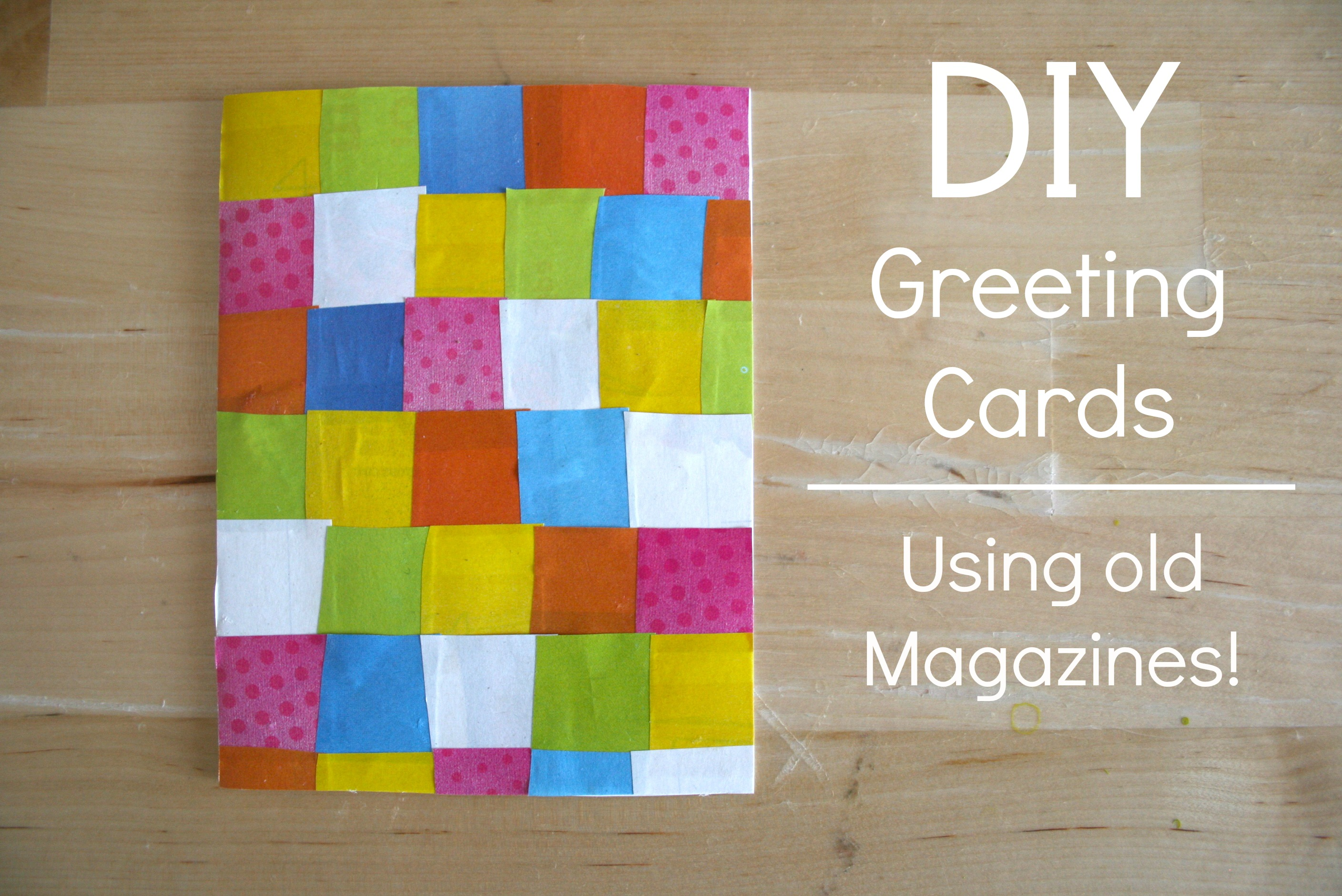 Lets get crafty diy greeting cards pt 1 amanda dorough the diy collage card kristyandbryce Choice Image