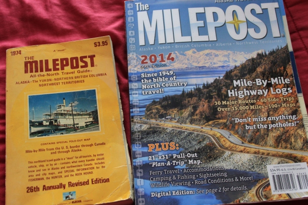Alaska Ferry- The milepost 40 years apart